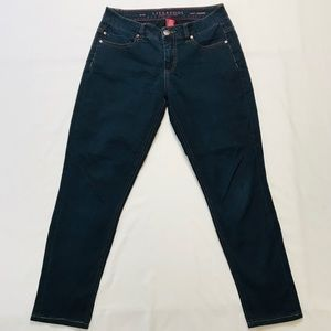 Liverpool Abby Skinny Dark Wash Mid Rise Jeans 28